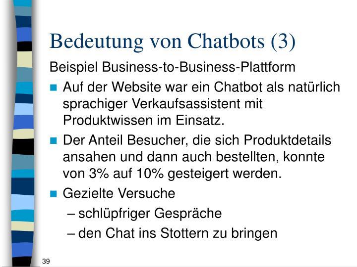 Bedeutung von Chatbots (3)