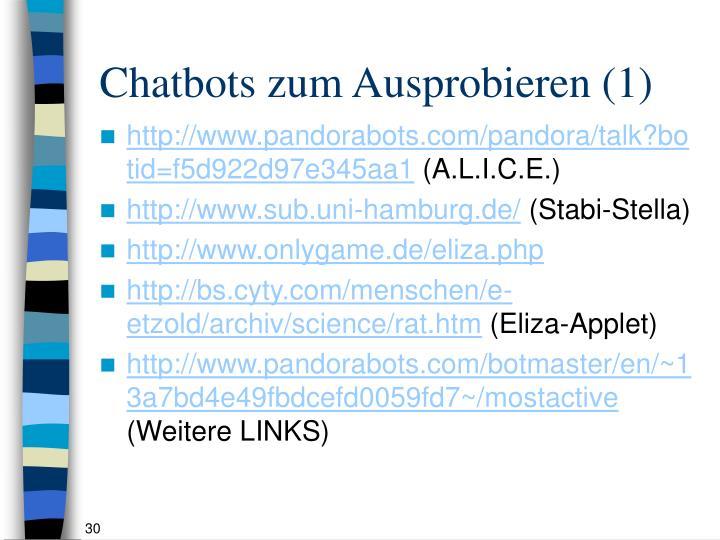 Chatbots zum Ausprobieren (1)