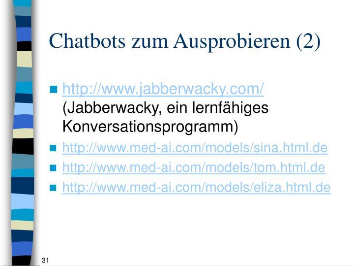 Chatbots zum Ausprobieren (2)