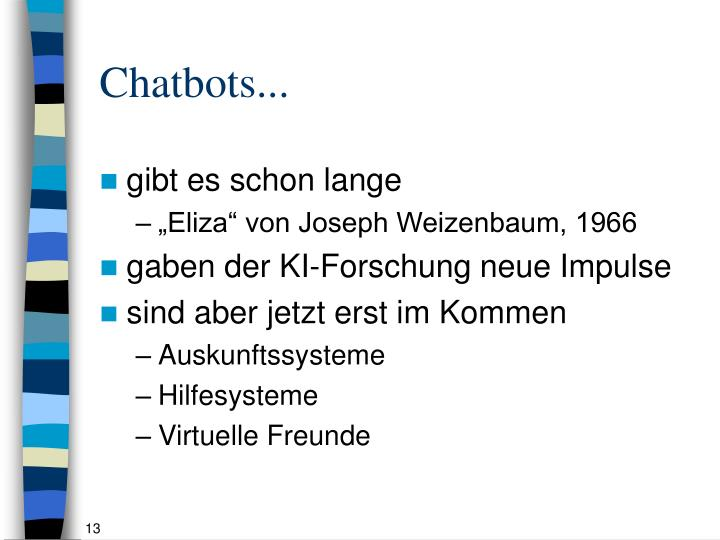 Chatbots...