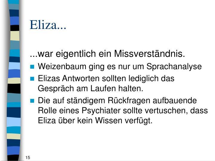 Eliza...
