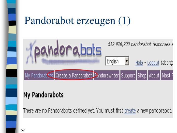 Pandorabot erzeugen (1)