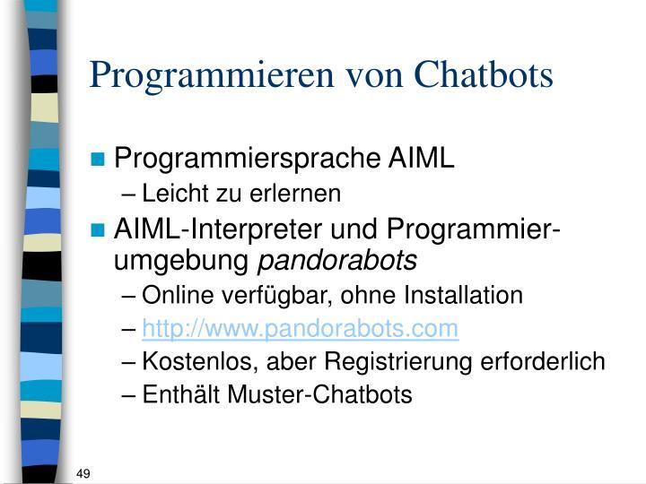 Programmieren von Chatbots