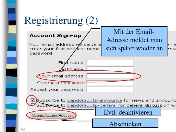Registrierung (2)