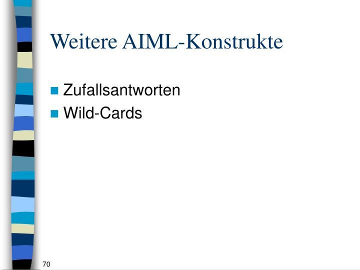 Weitere AIML-Konstrukte