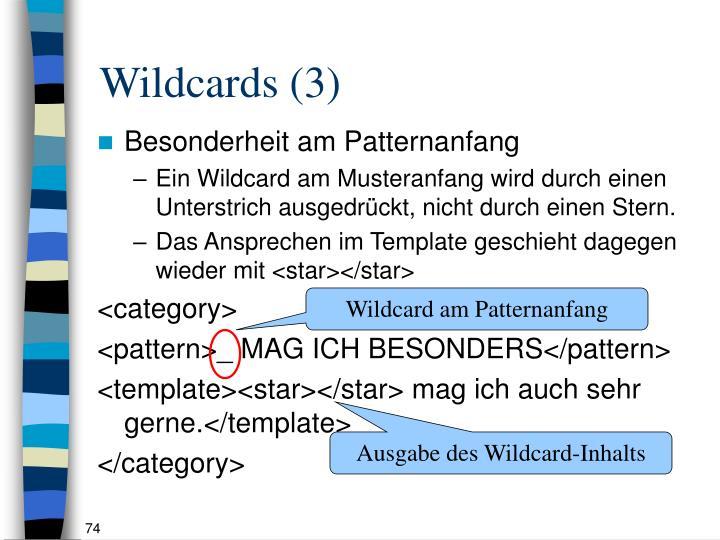 Wildcards (3)