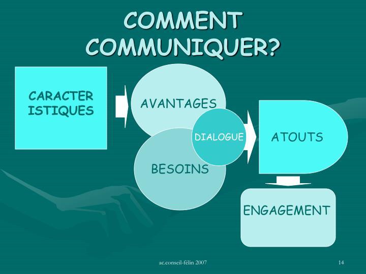 COMMENT COMMUNIQUER?