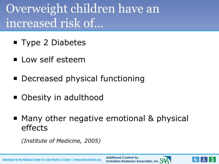 Overweight children have an increased risk of…
