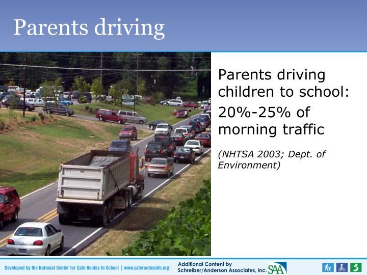 Parents driving