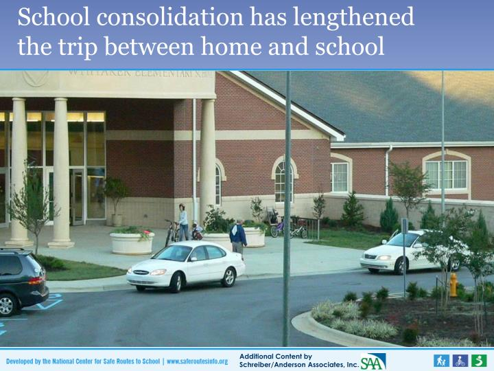 School consolidation has lengthened the trip between home and school