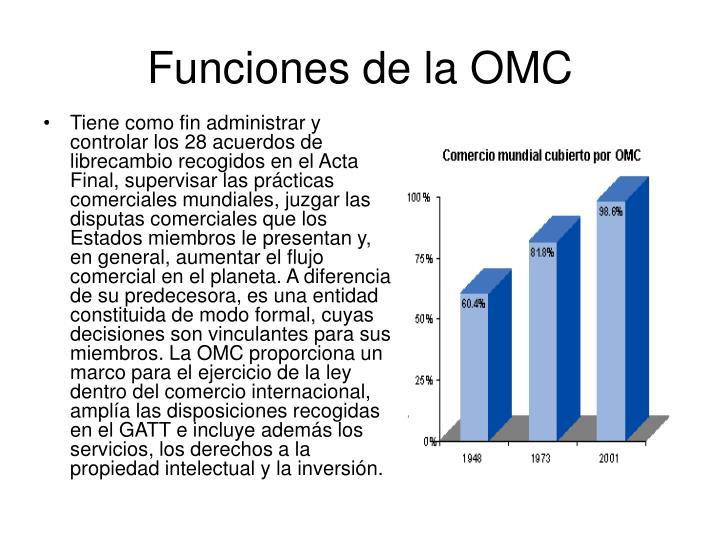 Funciones de la OMC