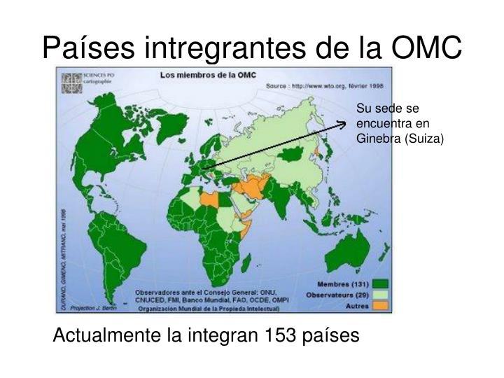 Países intregrantes de la OMC