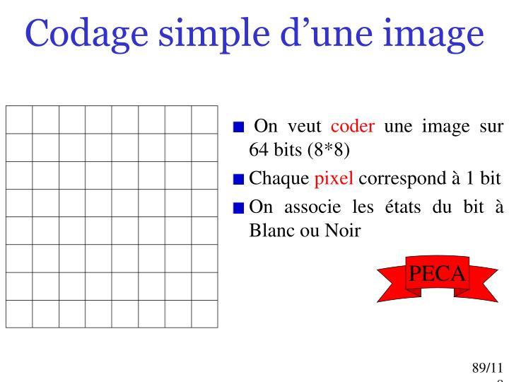 Codage simple d'une image