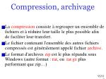 compression archivage