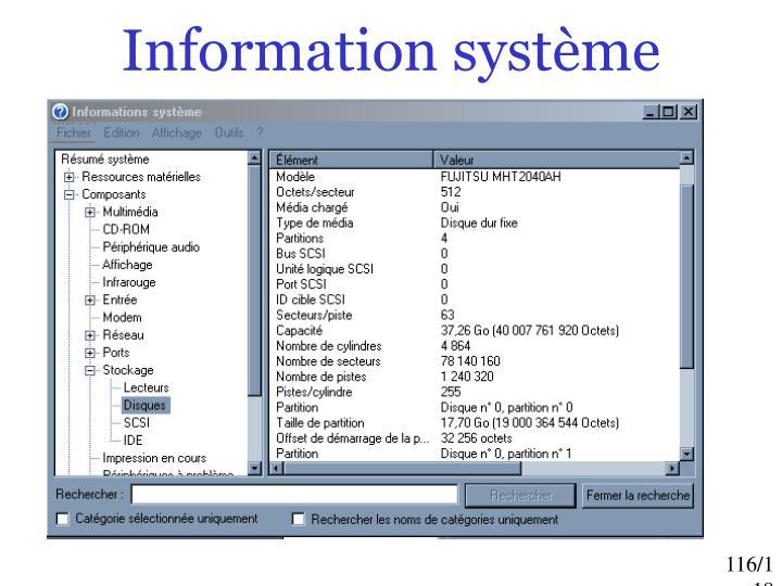 Information système