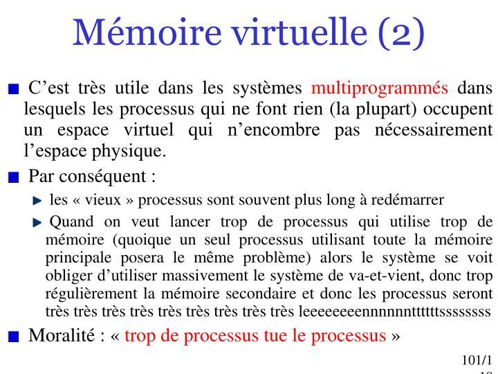 Mémoire virtuelle (2)