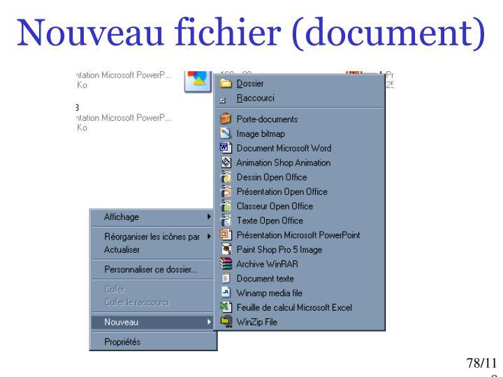 Nouveau fichier (document)