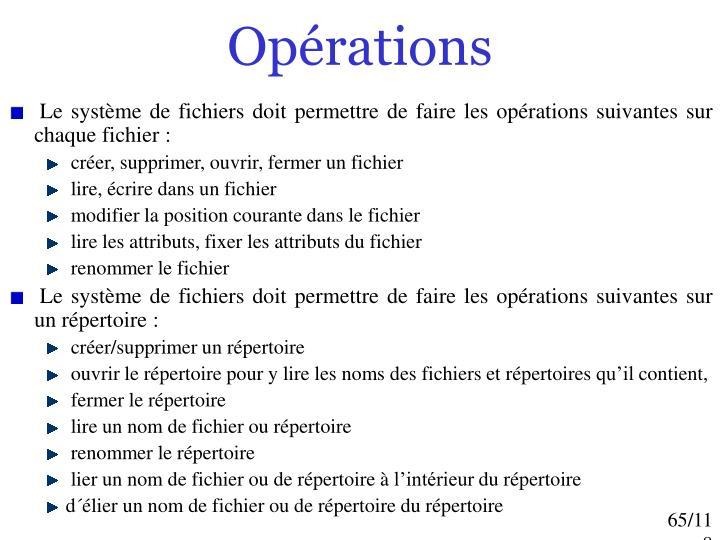 Opérations
