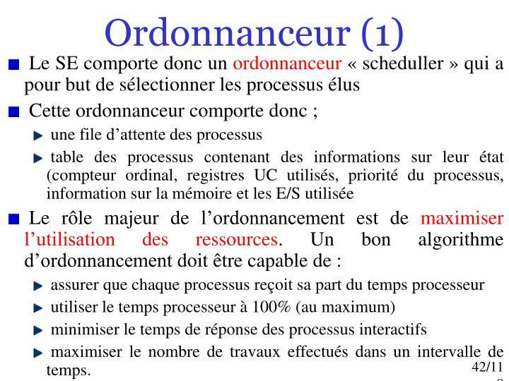 Ordonnanceur (1)