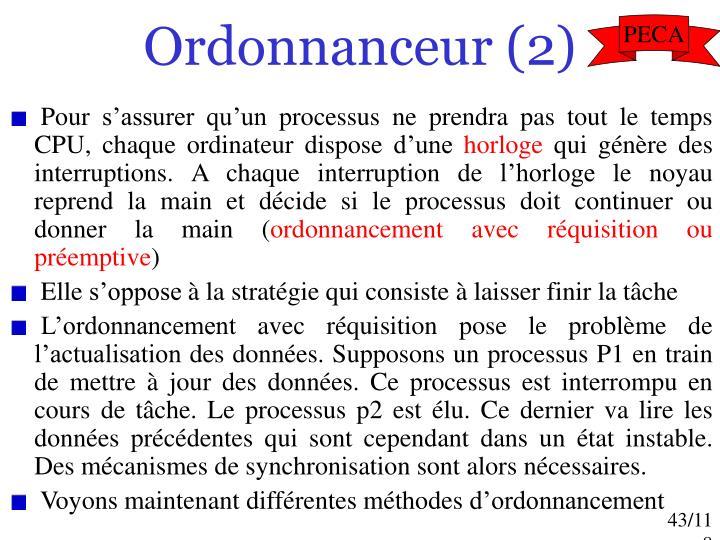 Ordonnanceur (2)