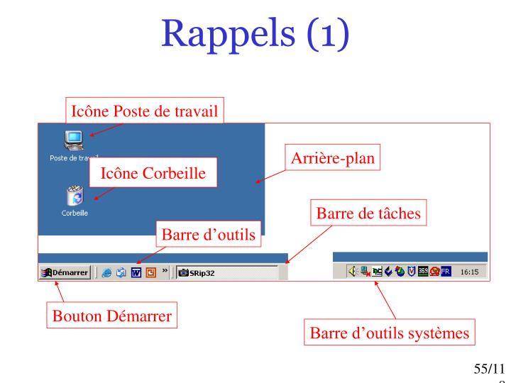 Rappels (1)