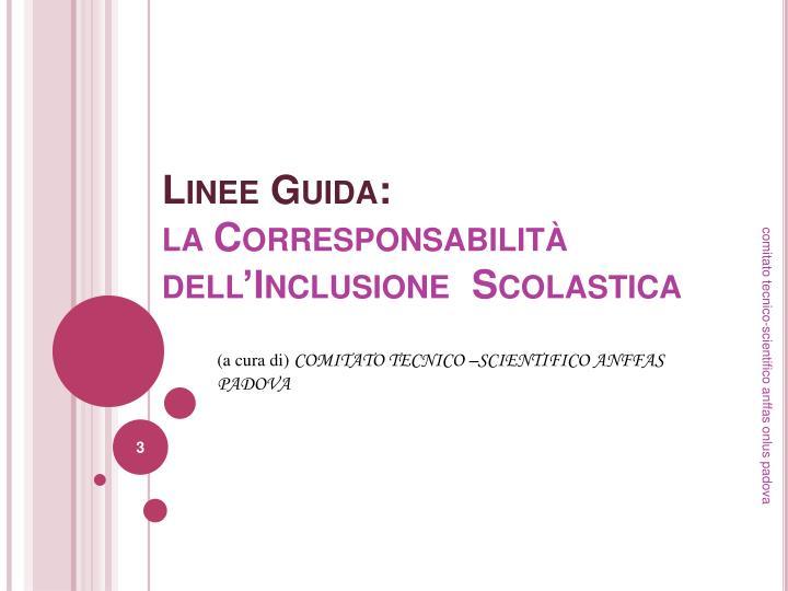 Linee Guida: