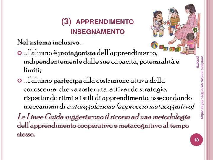 (3)  apprendimento