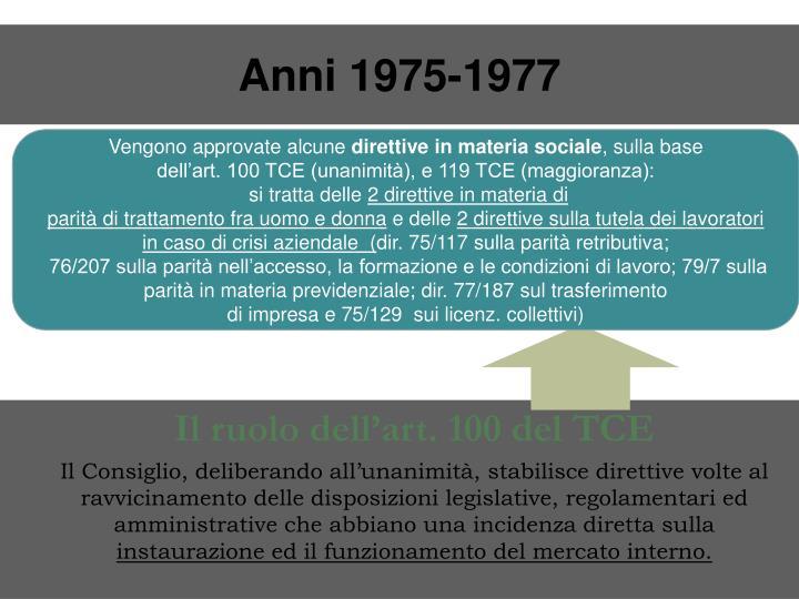 Anni 1975-1977