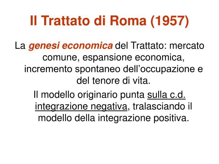 Il Trattato di Roma (1957)