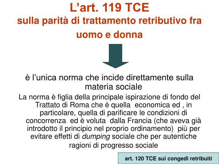 L'art. 119 TCE