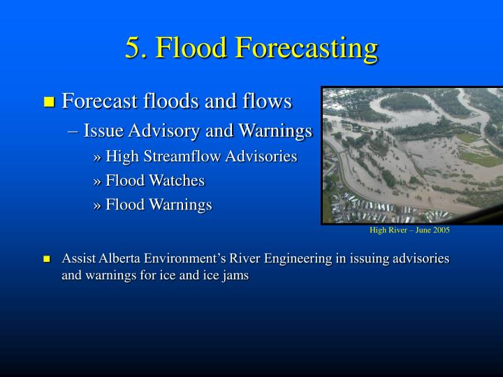 5. Flood Forecasting