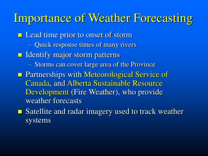 Importance of Weather Forecasting