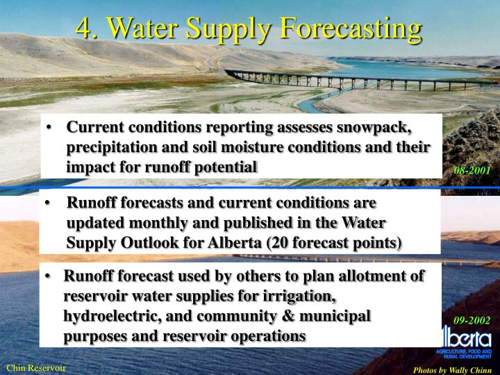 4. Water Supply Forecasting
