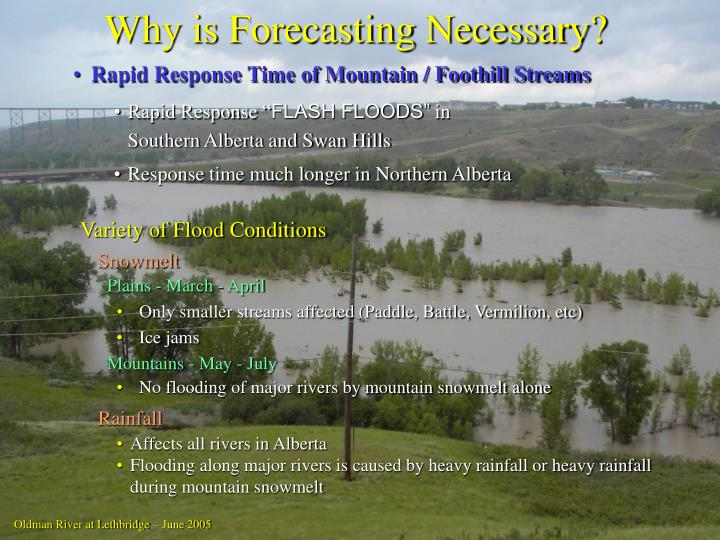 Why is Forecasting Necessary?