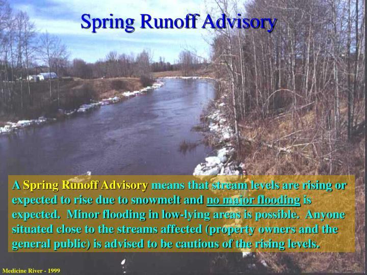 Spring Runoff Advisory