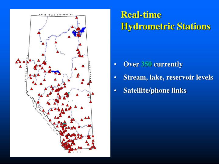 Real-time Hydrometric Stations