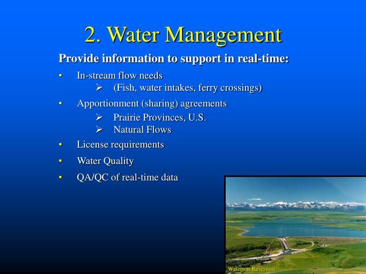 2. Water Management