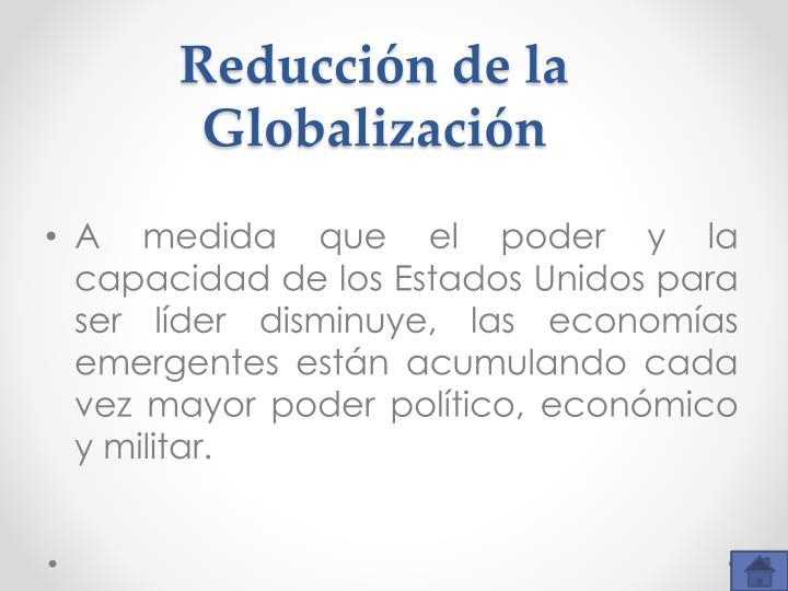 Reducción de la Globalización