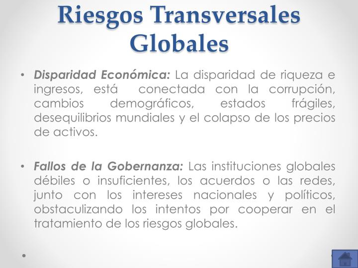 Riesgos Transversales Globales