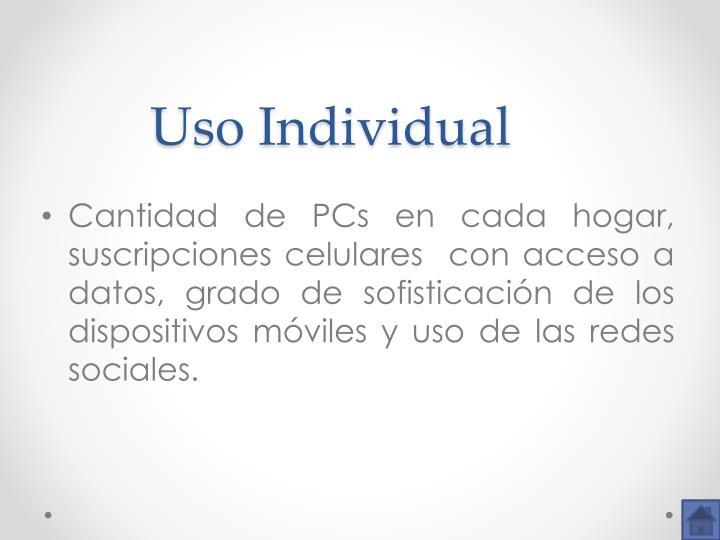 Uso Individual