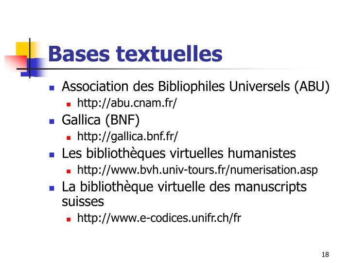 Bases textuelles