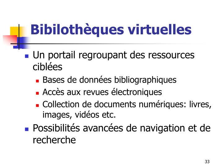 Bibilothèques virtuelles