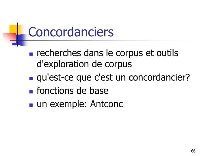 Concordanciers