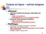 corpus en ligne autres langues i