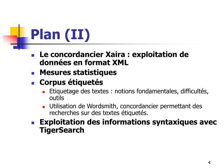 Plan (II)