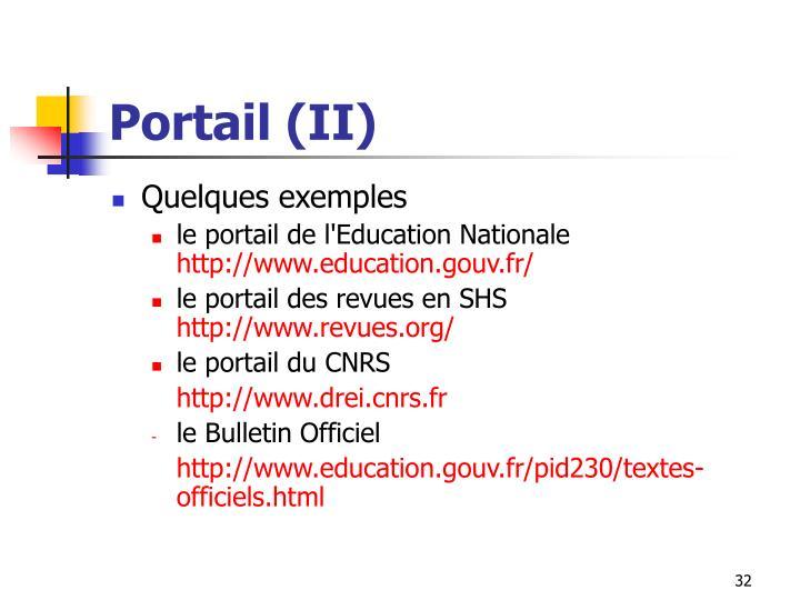 Portail (II)