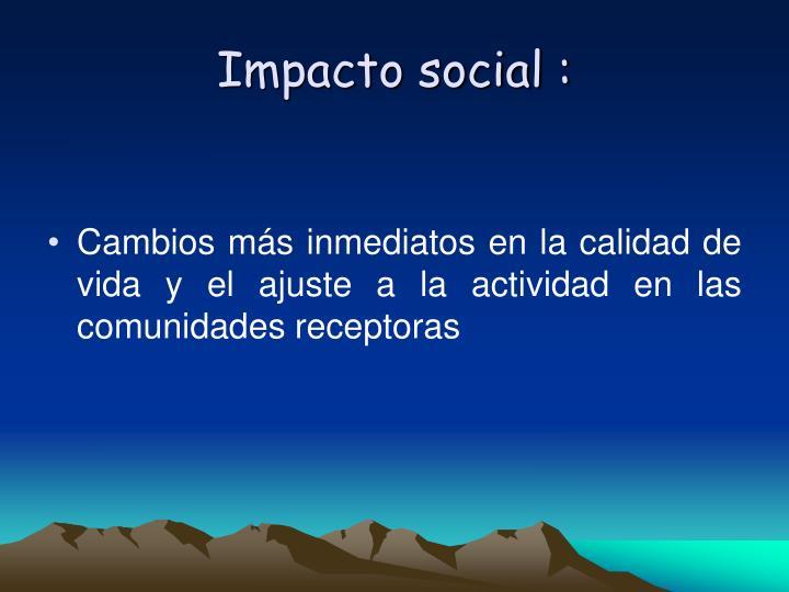 Impacto social :