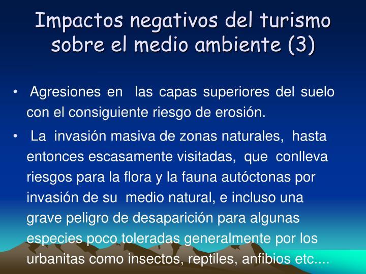 Impactos negativos del turismo sobre el medio ambiente (3)