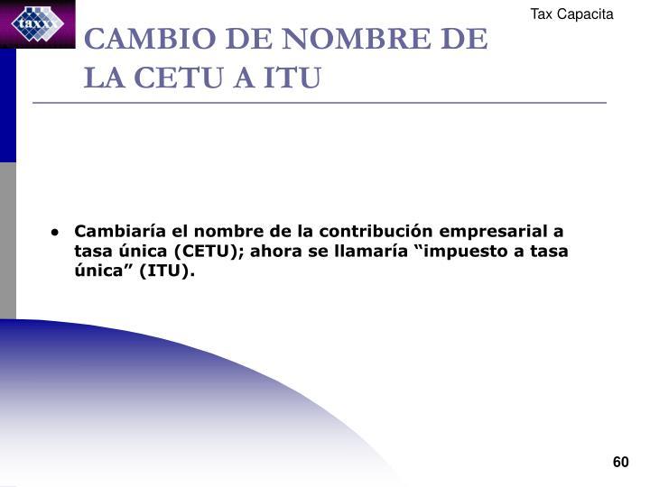 CAMBIO DE NOMBRE DE