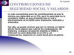 contribuciones de seguridad social y salarios1